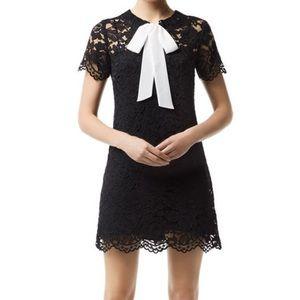 Sandro Reason Black Lace Dress with Slip